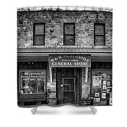 M And M Mercantile Bw Shower Curtain