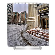 M And T Bank Downtown Buffalo Ny 2014 Shower Curtain