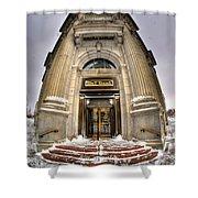 M And T Bank Downtown Buffalo Ny 2014 V2 Shower Curtain