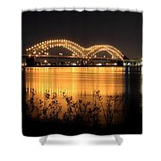 The Hernando De Soto Bridge M Bridge Or Dolly Parton Bridge Memphis Tn  Shower Curtain