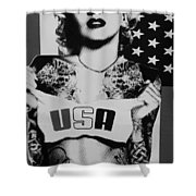 M M U S A In Black And White2 Shower Curtain