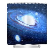 M31 Andromeda Galaxy Shower Curtain