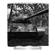 M47 Patton Tank Shower Curtain