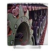 M60 Patton Tank Tread Shower Curtain