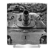 M60 Patton Tank Turret Shower Curtain