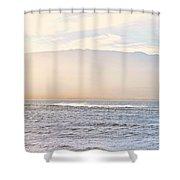 Maalaea Morning Surf Shower Curtain