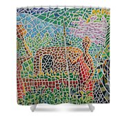 Maasai Couple And Cow Shower Curtain