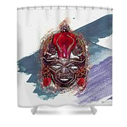 Maasai Mask - The Rain God Ngai Shower Curtain