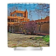 Mabel Dodge Luhan's Courtyard Shower Curtain