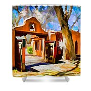 Mabel's Gate As Oil Painting Shower Curtain