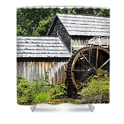Mabry Mill Close Up Shower Curtain