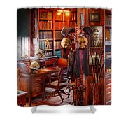 Macabre - In The Headhunters Study Shower Curtain