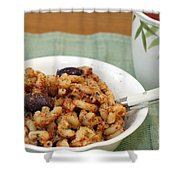 Macaroni Dinner Shower Curtain