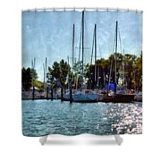 Macatawa Masts Shower Curtain