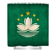 Macau Flag Vintage Distressed Finish Shower Curtain