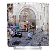 Macaws In Dubrovnik Shower Curtain