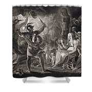 Macbeth, The Three Witches And Hecate Shower Curtain