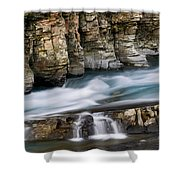 Macdonald Creek Falls Glacier National Park Shower Curtain