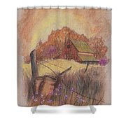 Macgregors Barn Pstl Shower Curtain