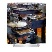 Machine Shop With Punch Press Shower Curtain