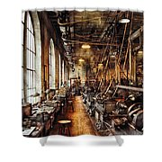 Machinist - Machine Shop Circa 1900's Shower Curtain by Mike Savad