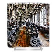 Machinist - Precision Matters Shower Curtain by Paul Ward