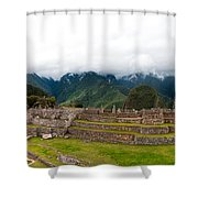 Machu Picchu Main Square And The Group Of The Three Doorways Shower Curtain