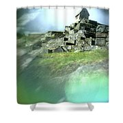 Machu Picchu Reflection Shower Curtain