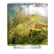 Machu Picchu Textured 2 Shower Curtain