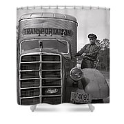Mack Truck  1943 Shower Curtain