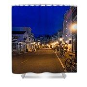 Mackinac Island Midnight Shower Curtain
