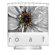 Macro A Trois Poster Shower Curtain