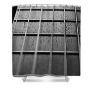 Macro Guitar Strings Shower Curtain