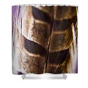 Macro Pheasant Shower Curtain