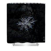 Macro Snowflake Shower Curtain