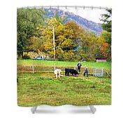 Mac's Farm In Balsam Grove 2 Shower Curtain