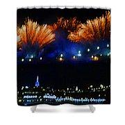 Macy's 2014 Fireworks Shower Curtain