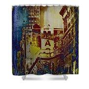 Macys Three - Neo-grundge - Famous Buildings And Landmarks Of New York City Shower Curtain