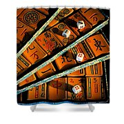 Mad For Mahjong Shower Curtain