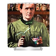 Madame Marie Curie Shaking Up A Killer Martini At The Swank Hipster Club 88 20140625 Shower Curtain