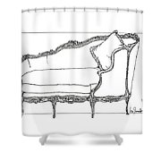 Madame Pompadour's Little  Day Bed Shower Curtain