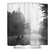 Madawaska Morning Shower Curtain