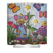 Maddie Mouse Shower Curtain