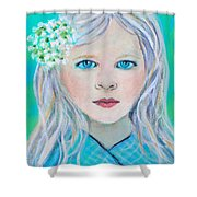 Madelyn Little Angel Of Clear Vision Shower Curtain