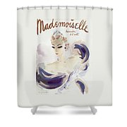 Mademoiselle Cover Featuring A Woman In A Gown Shower Curtain