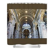 Maderno's Nave Ceiling Shower Curtain