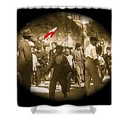 Madero Loyalty March  Mexico City February 9 1911-2013   Shower Curtain