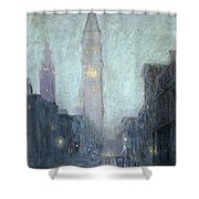 Madison Avenue At Twilight Shower Curtain
