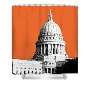 Madison Capital Building - Coral Shower Curtain