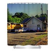 Madison Georgia Historic Train Station Shower Curtain